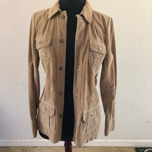 Old Navy corduroy tan button jacket